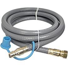 """M.B. Sturgis Inc. 3/8"""" ID Natural Gas BBQ Grill Quick Disconnect Gas Connector (25 Feet)"""
