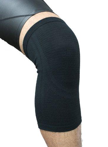 (Phiten Aqua Titanium Knee Support, Black, Small/Medium )