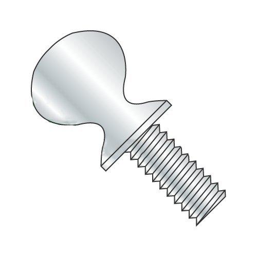 #10-32 x 1/2'' Thumb Screws, Type A with Shoulder, Steel, Zinc Plating (Quantity: 100 pcs)