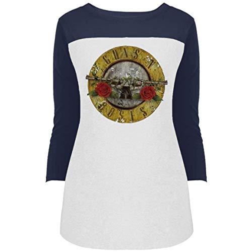 Guns N Roses Women's 3/4 Sleeve Rock Band Queen Print T Shirt -