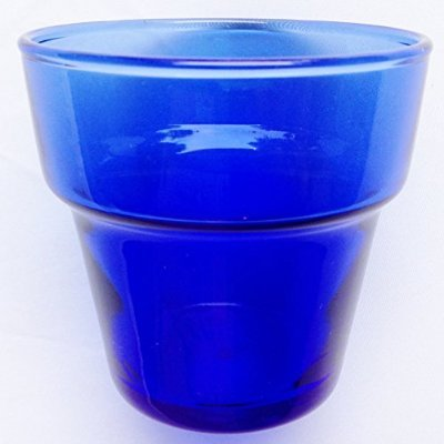 Amazon.com & Amazon.com: Anchor Hocking Glass Mini Cobalt Blue Flower Pot Tea ...