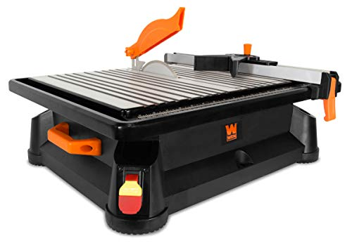 WEN 71745 4.1A 4.5-Inch Portable Wet Tile Saw with Fence and Miter Gauge