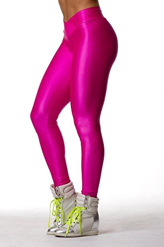 Amour- Fashion Neon Stretch Skinny Shiny Spandex Leggings Pants - Buy Online in UAE. | Apparel ...