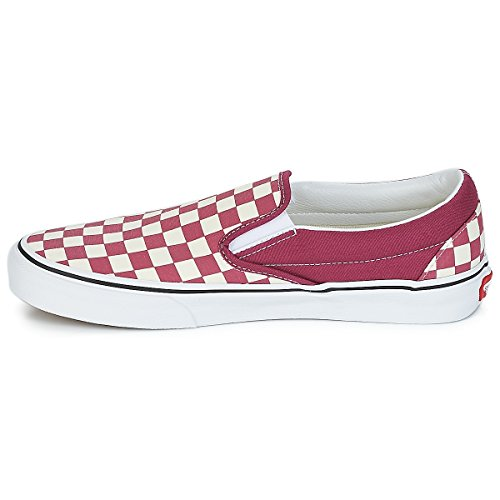 Adults' Classic Unisex Dry Trainers Rose checkerboard Slip Canvas on white Vans BP14n