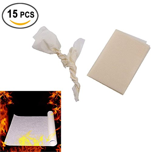 Eforoutdoor 15 PCS Amazing Magic Tricks Performance Props Accessories Magic Flash Paper Magic Stage Props Fire Flame To Rose Paper Fire Trick for Magic Show
