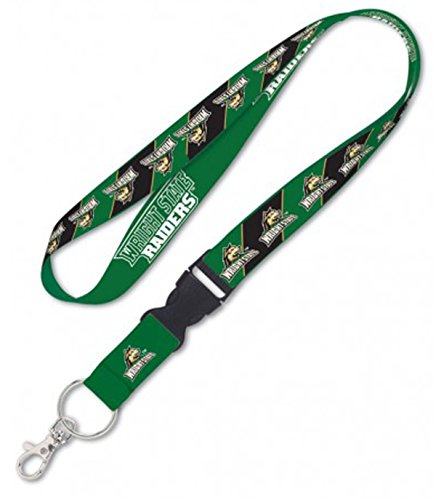 WinCraft Bundle 2 Items: Wright State University 1 Lanyard and 1 Premium Badge Reel Id Holder by WinCraft (Image #1)