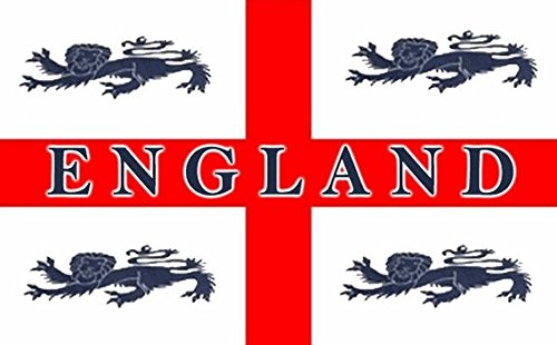 england 4 lions flag polyester