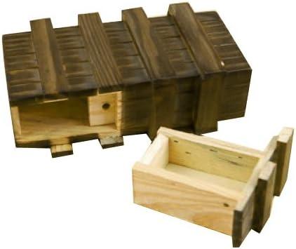 Caja mágica de madera con cajón secreto adicional: Amazon.es: Hogar