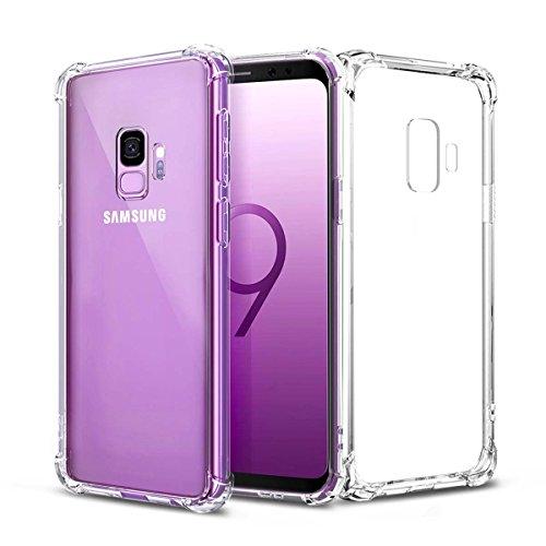 Airror Galaxy S9 Case Clear,  Ultra Thin Clear Soft TPU, Fou