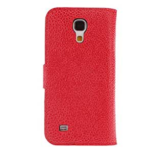 MOM Snakeskin Grain PU Leather Case with Mustache Buckle for Samsung Galaxy S4 Mini I9190 (Assorted Colors) , Black