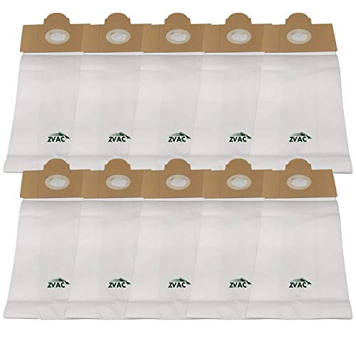 ZVac Replacement Compatible -Alto Combi-Vac, 514/517/518/614/618 - Filtervac 14 & 18, FilterPac BP (Fits Similar to OEM-50721, 50704A-2) Filter Bags (Pack of 10)