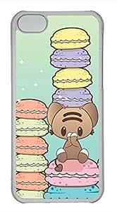 iPhone 5c case, Cute I Love Macarons iPhone 5c Cover, iPhone 5c Cases, Hard Clear iPhone 5c Covers