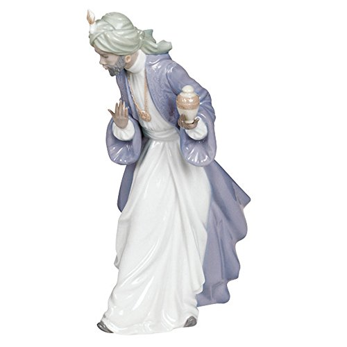 Nao by Lladro Collectible Porcelain Figurine: KING BALTHASAR WITH JUG - 11-1/4'' tall - Nativity by Lladro