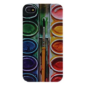 Paint Box Pattern Hard Case for iPhone 4/4S