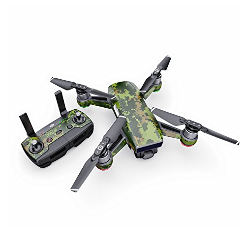 CAD Camo Decal for Drone DJI Spark Kit - Includes Drone Skin, Controller Skin and 1 Battery ()