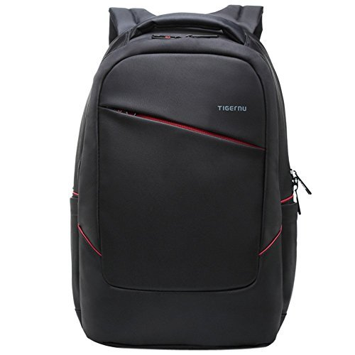 Shot Laptop Backpack - Multifunctional Casual Travel Lightweight Black Nylon Massage Backpack Bag for 15.6 inch Laptop with Hidden Compartment and Waterproof