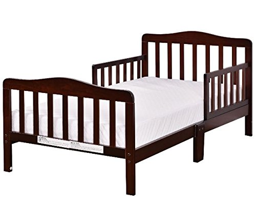 Wood Toddler Kids Baby Bed Safety Rails Espresso Bedroom Furniture + eBook by eXXtra Store (Image #8)