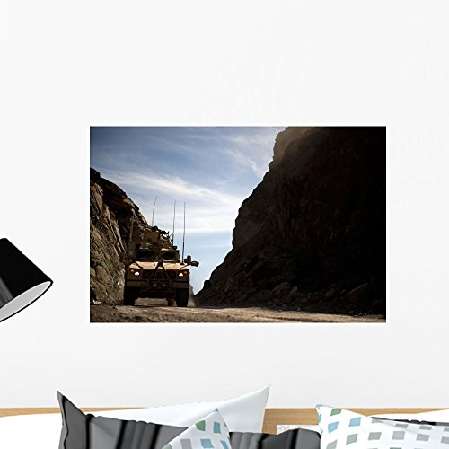 Wallmonkeys Mrap Vehicle Drives through Wall Mural by Peel and Stick Graphic (24 in W x 16 in H) WM212004 - Drive Mural