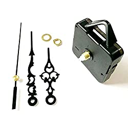 Uspeedy Wall Clock Movement Mechanism, Quartz DIY Wall Clock Movement Mechanisms Battery Powered DIY Repair Parts Replacement (Black 2)