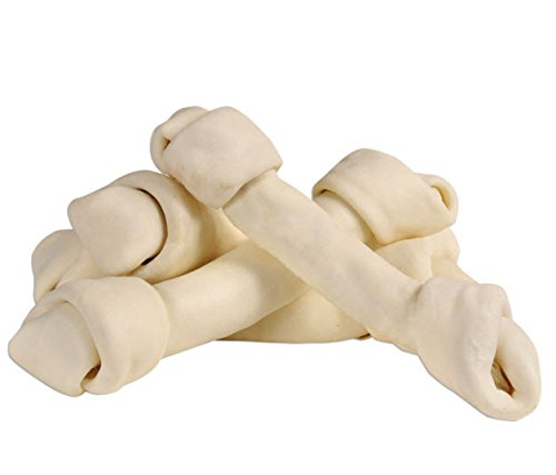 Monster Hide 100% Premium Rawhide Knotted Bone 10-11in (25-Pack)