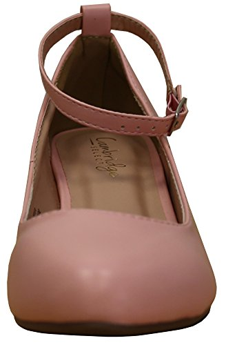 Wrapped Round Strappy Cambridge Select Wedge Closed Womens Pu Ankle Buckle Toe Pink Cwq8T4wFX