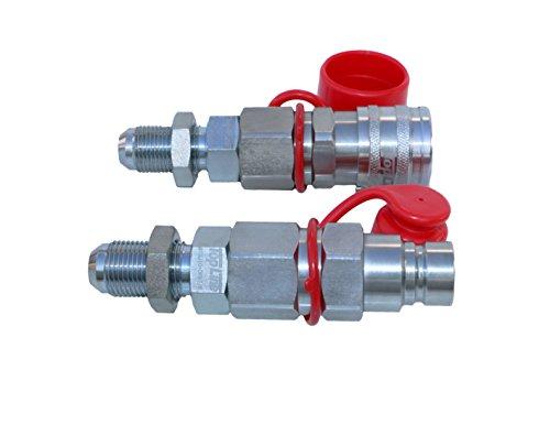 (TL24#10 JIC Thread Flat Face Quick Connect Hydraulic Coupler Bulkhead 1/2