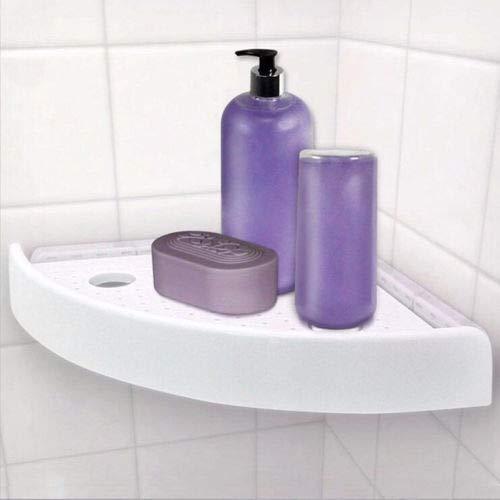 Dewin Multifunktionale Dusche Eckregal Eckhalter mit Haken und PVC-Saugnapf K/üche f/ür Badezimmer
