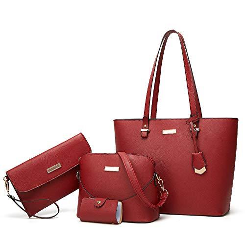 YNIQUE Satchel Purses and Handbags for Women Shoulder Tote Bags Wallets ()