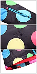 APTRO Women\'s Windproof Waterproof Bright Color Ski&Snowboarding Jacket Half Polka Dot Size M