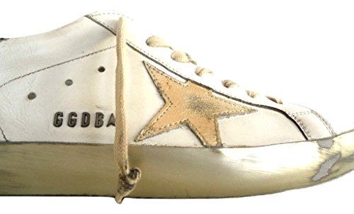 Golden Goose Scarpe Sneakers Uomo Vintage Superstar G30MS590.E37 Bianco Oro