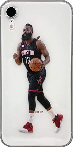 (ECHC Soft TPU Basketball Case with Your Favorite Past and Present Players Compatible for iPhone (Harden Dribble, iPhone XR))