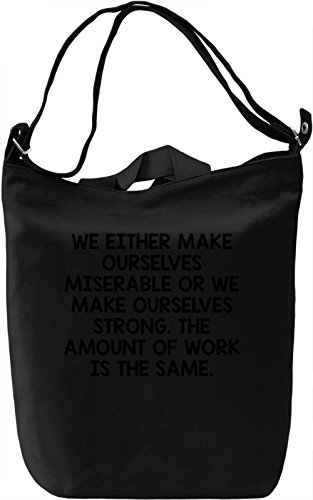 Make Ourselves Borsa Giornaliera Canvas Canvas Day Bag| 100% Premium Cotton Canvas| DTG Printing|
