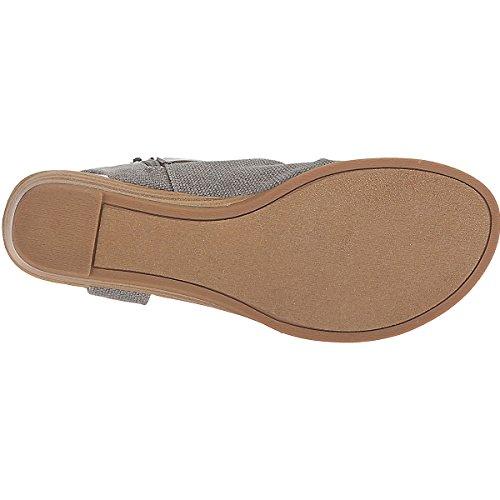 Gris CHNHIRA Sandalias Verano Romanos De Tobillo Pisos Correa Mujer Zapatos wzaBqvP