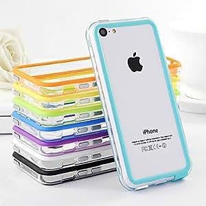 GONGXI Dual Color MiGONGXI e Transparent TPU Soft Bumper for iPhone 5C(Assorted Color) , White