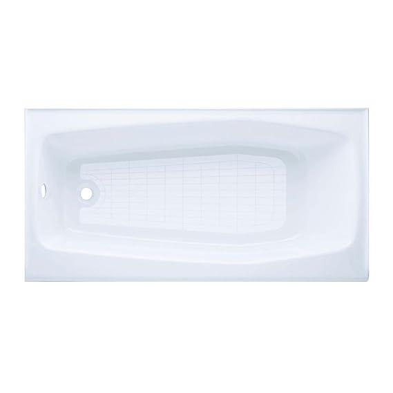 KOHLER K-715-0 Villager Bath with Left-Hand Drain, White - Recessed ...