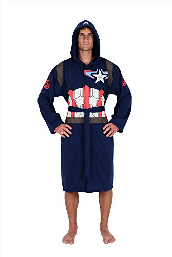 Superhero Robes (Marvel Blue Captain America Avengers Jersey Robe (One Size))