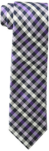 U.s. Polo Assn. Men's White Check Tie, lavender, One - Lavender Polyester Ties