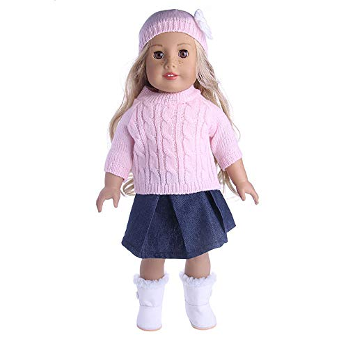 ccessory Sweater Toys Doll Clothes Wardrobe 18 Inch American Girl Doll ()