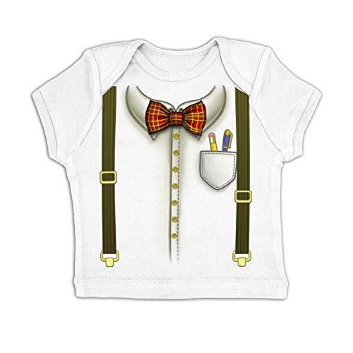 Nerd Costume Baby T-shirt - White 18-24 Months (Cute Girl Nerd Costumes Halloween)