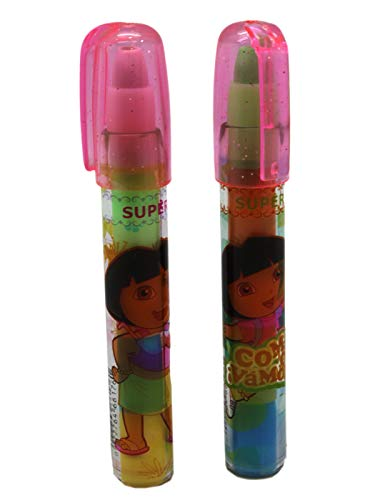 - Dora Rainbow Colored Eraser Cartridges Pen Set (2pc)