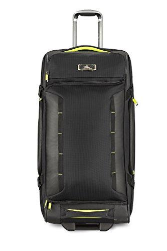 Upright Duffel (High Sierra AT8 Wheeled Upright Duffel Bag, Black/Zest, 32
