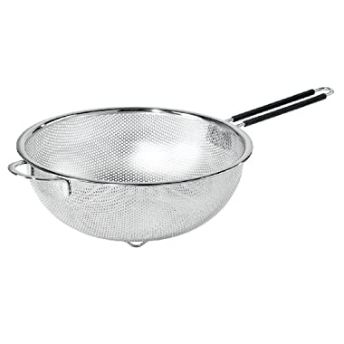 Oggi 5629.0 Perforated 11-inch Stainless Steel Colander with Soft-Grip Handles