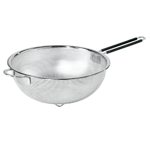 Oggi 5629.0 Perforated 11-inch Stainless Steel Colander with Soft-Grip Handles ()