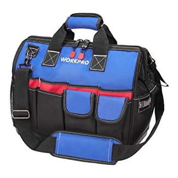 "Ideal 35-427 18/"" Large Mouth Tool Bag w// Shoulder Strap"