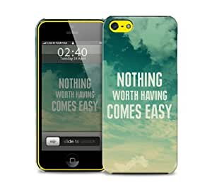 nothing worth having fitness quote iPhone 5c protective phone case
