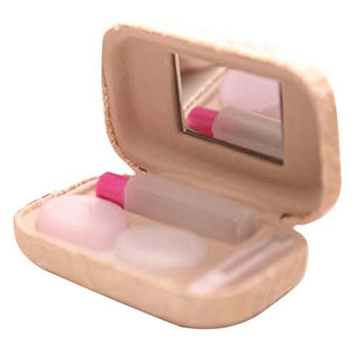 Hee Grend Lace Cover Mini Contact Lens Case couleur aléatoire