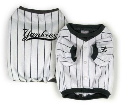 Sporty K9 New York Yankees Baseball Dog Jersey, Medium