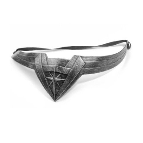 Insho Movie Wonder Woman Headband for Woman Cosplay Head Accessory Prop - Silver]()