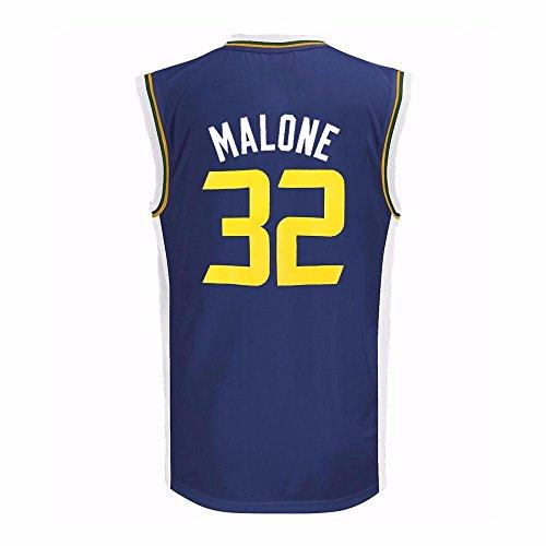 (adidas Karl Malone Utah Jazz NBA Boys Navy Blue Official Road Replica Basketball Jersey (4))