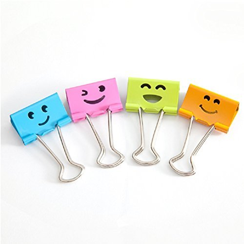 Set of 48 paper binder clips creative colorful paper holder office supplies school accesseries 25mm